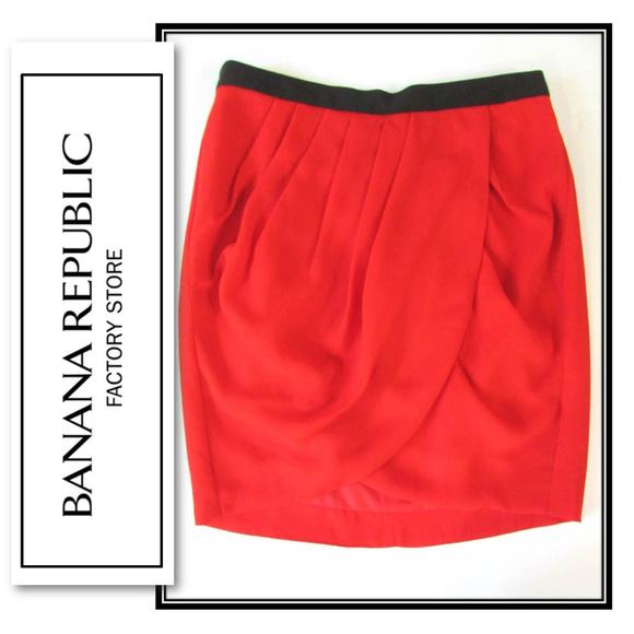 Banana Republic Dresses & Skirts - Banana Republic Red Tulip Style Draped Skirt